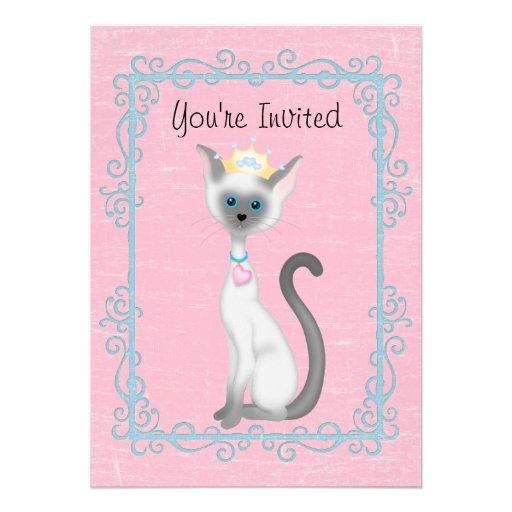 Personalized kitty birthday invitations custominvitations4u princess kitty cat birthday invitation girls filmwisefo