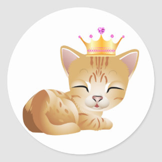 Princess Kitty Cat Gifts Stickers