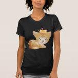 Princess Kitty Cat Gifts T-Shirt Black Ladies