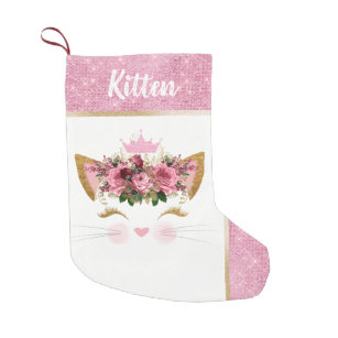 Pink Girl Christmas Stockings | Zazzle