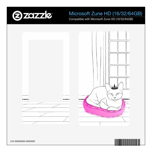 Princess Kitty Decal For The Zune HD