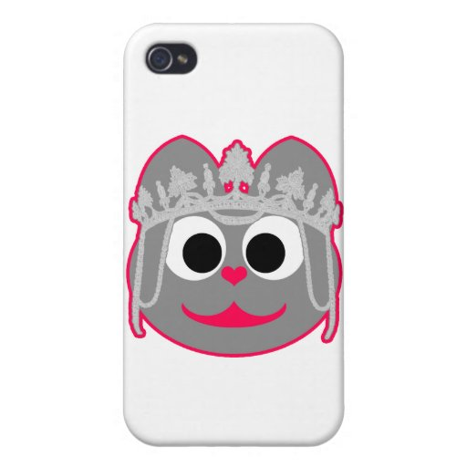 Princess Kitty Pink - Gray Case For iPhone 4