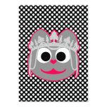 Princess Kitty Pink - Gray 5x7 Paper Invitation Card