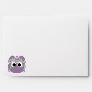 Princess Kitty Purple - Gray Envelope