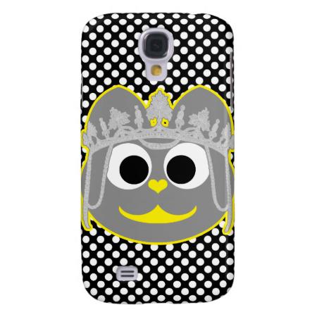 Princess Kitty Yellow - Gray Samsung Galaxy S4 Cover