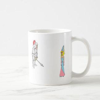 Princess & Knight (plain background) Coffee Mugs