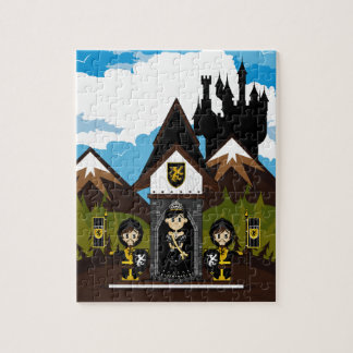 Princess & Knights at Mini Castle Jigsaw Puzzle