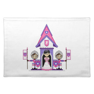 Princess & Knights at Mini Castle Placemat Cloth Placemat