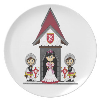 Princess & Knights at Mini Castle Plate