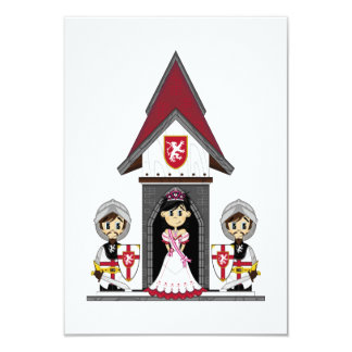 Princess & Knights at Mini Castle RSVP Card