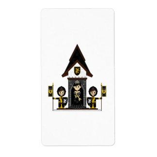 Princess & Knights at Mini Castle Sticker Label