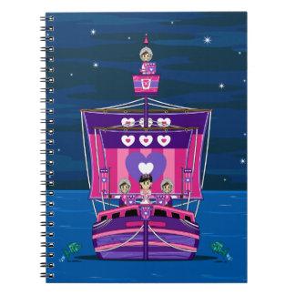Princess & Knights on Medieval Ship Notebook
