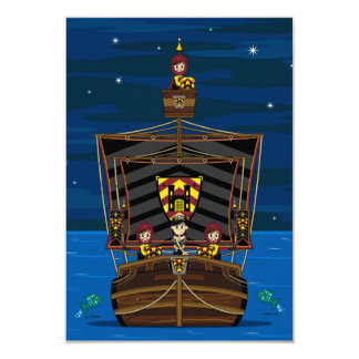 Princess & Knights on Medieval Ship RSVP Card
