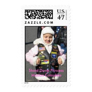 Princess Krista Biker Babe Postage Stamp