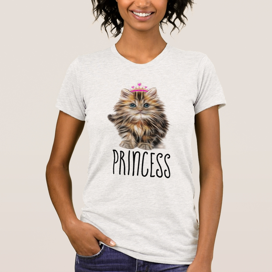 PRINCESS Ladies CAT KITTEN T-Shirts - Best Selling Long-Sleeve Street Fashion Shirt Designs