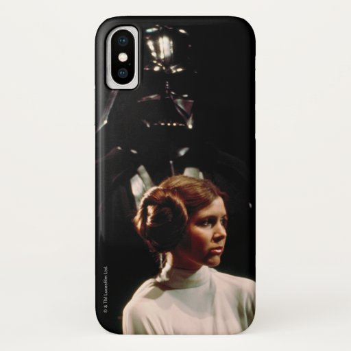 Princess Leia and Darth Vader Photo iPhone X Case