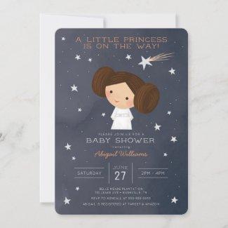 Princess Leia | Watercolor Baby Shower Invitation