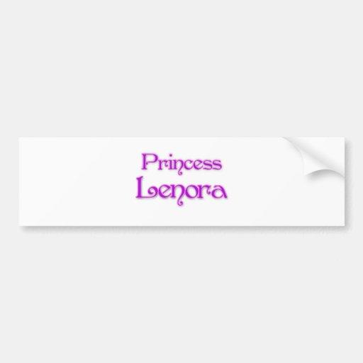 Princess Lenora Car Bumper Sticker