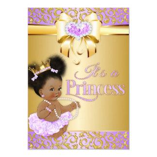 Princess  Lilac & Gold Diamond African American Card