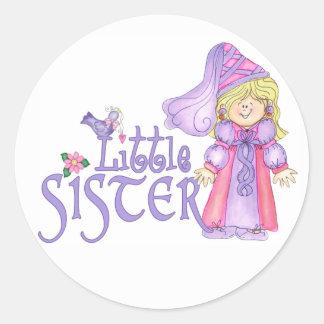 Princess Little Sister Classic Round Sticker