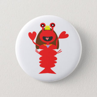 Princess Lobster Button
