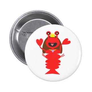 Princess Lobster Button