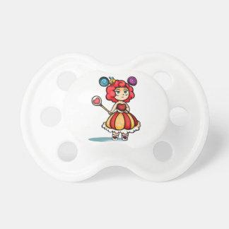 Princess Lollipop Digital Art w/Hearts & Crown Baby Pacifiers