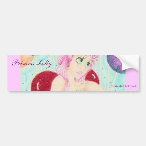 Princess Lolly Car Bumper Sticker