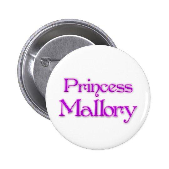 Princess Mallory Pinback Button
