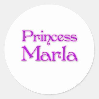 Princess Marla Classic Round Sticker