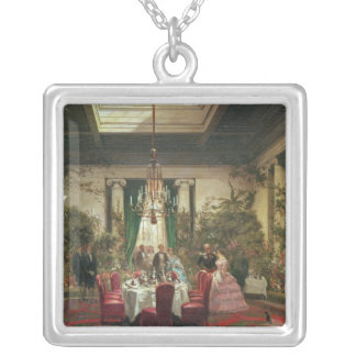 Princess Mathilde's Salle-a-Manger Silver Plated Necklace