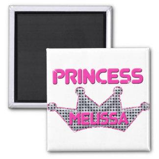 Princess Melissa 2 Inch Square Magnet