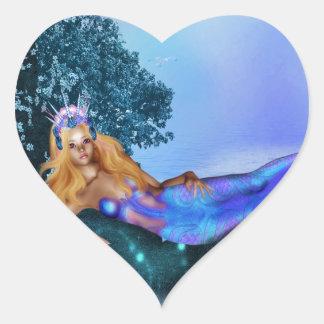 Princess Mermaid Heart Sticker