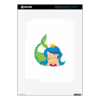 Princess Mermaid iPad 3 Decal
