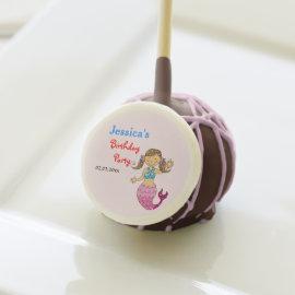 princess mermaid kids birthday parties customized cake pops