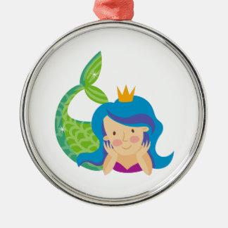 Princess Mermaid Metal Ornament