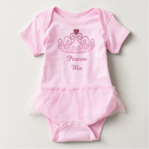 Princess Mia, Pink TuTu, Add Your Baby's Name Baby Bodysuit