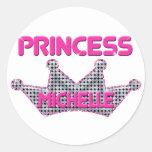 Princess Michelle Round Sticker
