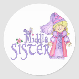 Princess Middle Sister Classic Round Sticker