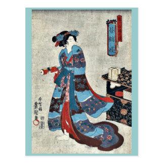Princess Minatsuru by Utagawa,Toyokuni Postcard