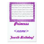 Princess Mini Hearts Fifth Birthday Party Invitati 5x7 Paper Invitation Card