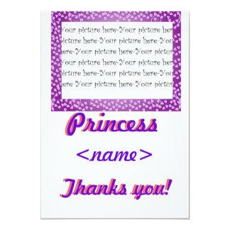Princess Mini Hearts First Birthday Party Thank Yo Card
