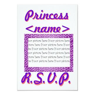 Princess Mini Hearts Second Birthday Party R.S.V.P Card
