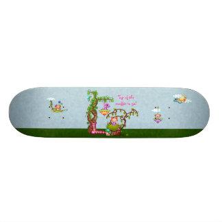 Princess Muffin & Friends Pixel Art Skateboard