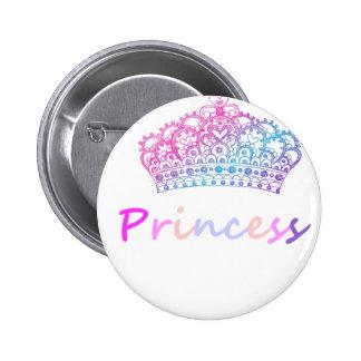 Princess (multi-colored) pinback button