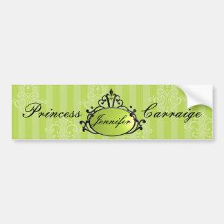 Princess Name Filigree Bumper Sticker