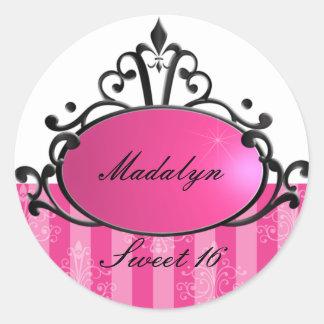Princess Name Filigree Classic Round Sticker