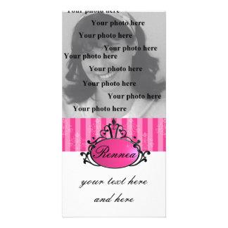 Princess Name Filigree Photo Card