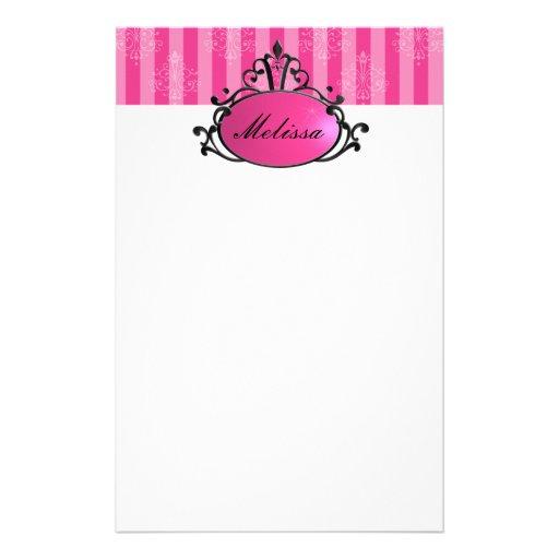 Princess Name Filigree Stationery Design