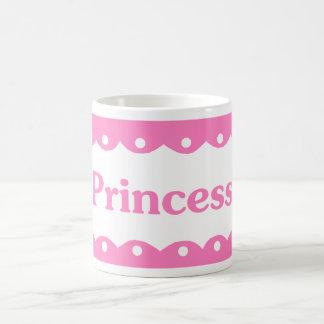 Princess Name Pink Lace Mugs